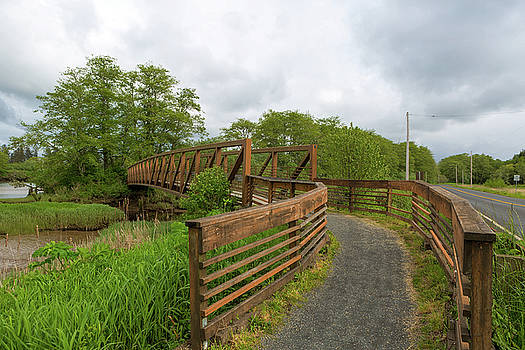 Bridge along Lewis and Clark Hiking Trail  by David Gn
