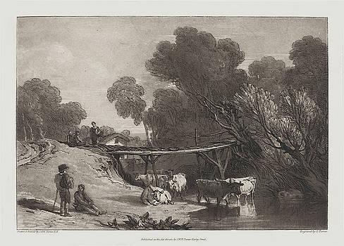 Joseph Mallord William Turner and Charles Turner - Bridge and Cows