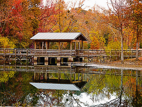 Bridge at Brick Pond Park by Bill Barber