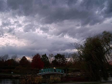 Bridge at Cox Arboretum by David Carvell