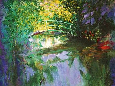 Bridge at Giverny by Madeleine Holzberg