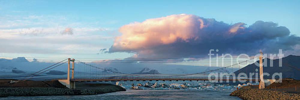 Bridge at Iceberg Lagoon by Jerry Fornarotto
