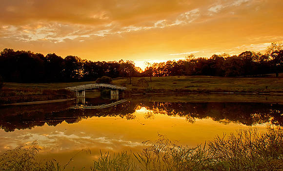 Bridge at sundown by Keith Bridgman