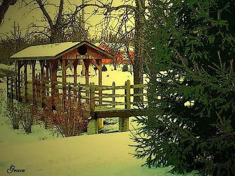 Bridge at Winter by Julie Grace