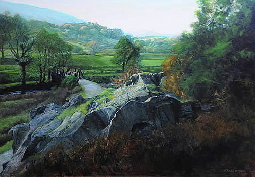 Bridge below Aberglaslyn by Harry Robertson