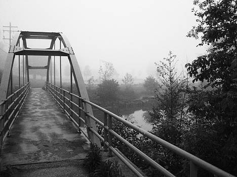 Bridge in Fog  by Karen  Summers
