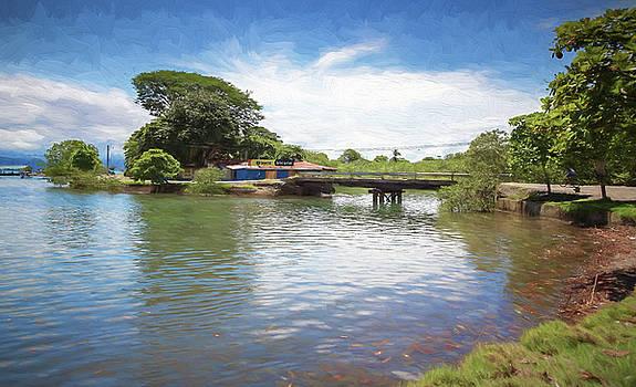 Bridge in Puerto Jimenez Costa Rica by Joan Carroll