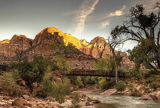 Bridge Mountain - Zion National Park by Gordon Ripley