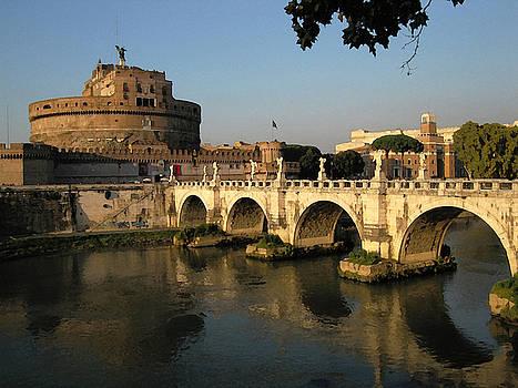 Bridge of Angels Rome by Paul Barlo
