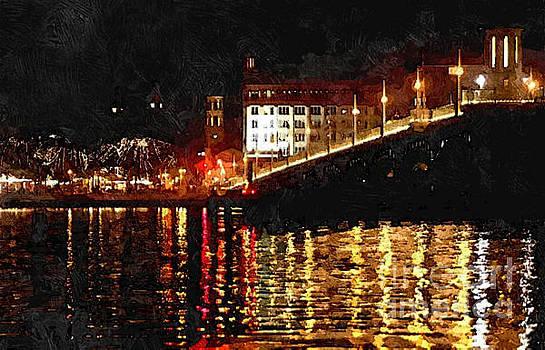 Bridge of Lions at Night by Jennifer Capo
