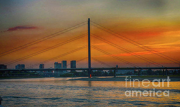 Bridge on the Rhine River by Pravine Chester
