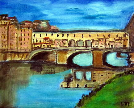 bridge on the river Arno by Lia  Marsman