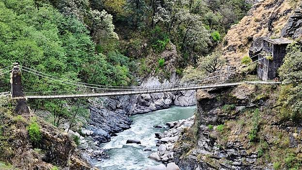Bridge Over Ganges Gorge by Kim Bemis