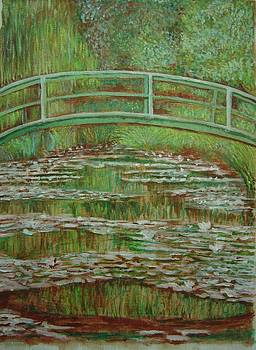 Bridge Over Ond Of Lily- Monet Reroduction by Sankara rao Bhatta