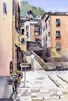 Bridge over the Rio Darro, Granada by Margaret Merry