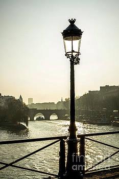 Bridge over the Seine. Paris. France. Europe. by Bernard Jaubert