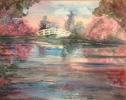 Bridge over water by Katherine Berlin