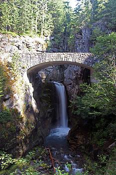 Bridge over waterfall by Richard Jones