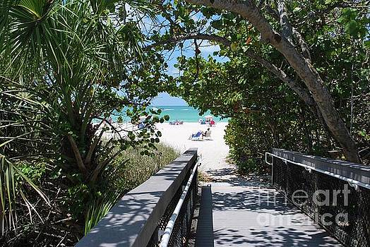 Bridge to Casey Key Beach by Gary Wonning