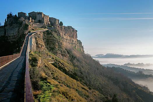 Bridge to Civita di Bagnoregio Italy by Joan Carroll
