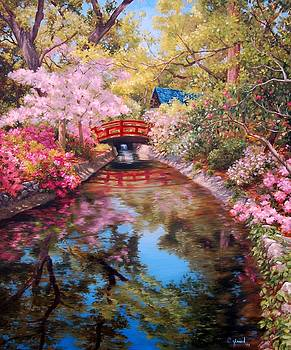 Bridge to the Japanese Teahouse by Johanna Girard