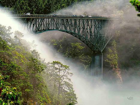 Bridge Veiled in Fog by Rick Lawler