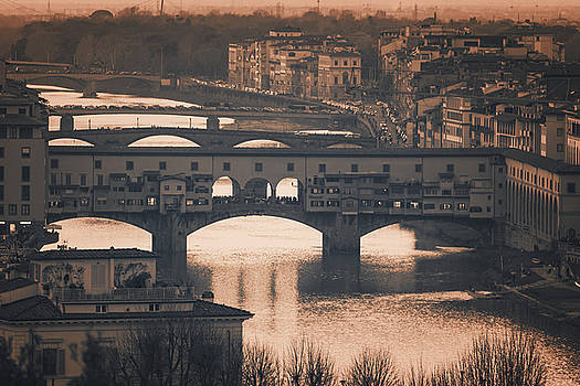 Bridges of Florence Italy by Joan Carroll