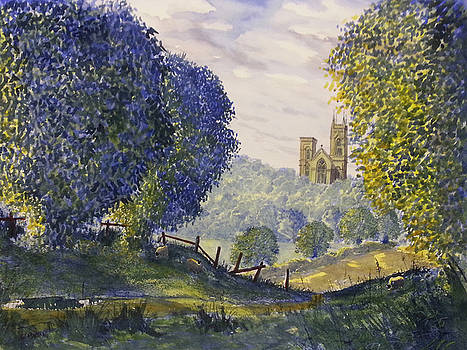 Bridlington Priory from Woldgate on the Hockney Trail by Glenn Marshall