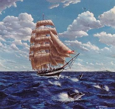 Brig Carthaginian-Lahaina Maui by Leif Thor Kvammen