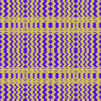 Bright Colorful Purple Yellow Wavy Lines by BrightVibesDesign