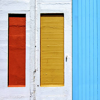 Bright Colours on a White wall by Russ Dixon