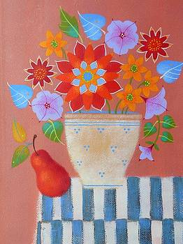 Bright Dahlias by Mary Maki Rae