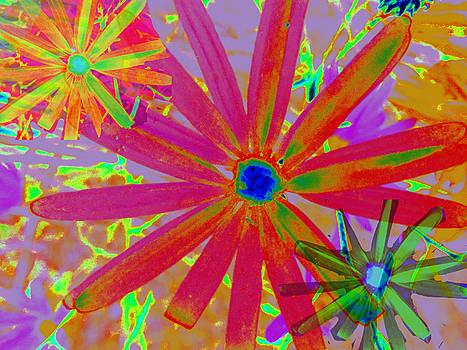 Bright Flowers Wallpaper by Charlotte Schafer