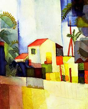 Bright House by August Macke