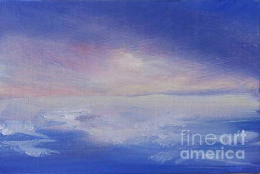 Bright Ocean Sunset by Vivian Haberfeld