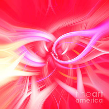 Bright Pink Abstract by Phill Petrovic
