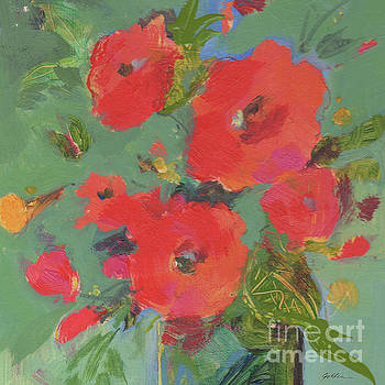 Bright Red Blossoms by Sheila Golden