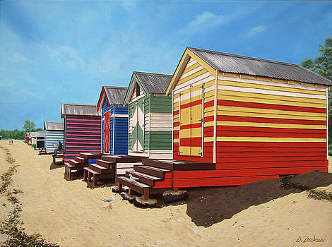 Brighton beach midday by Debra Dickson