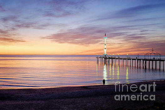 Brighton Beach Sunset by Ray Warren