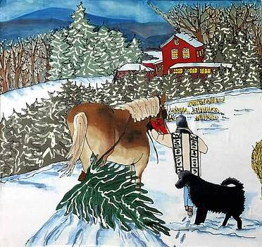 Bringing Home the Tree by Linda Marcille