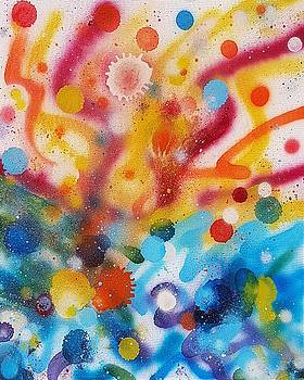 Bringing Life Spray Painting  by Julia Woodman