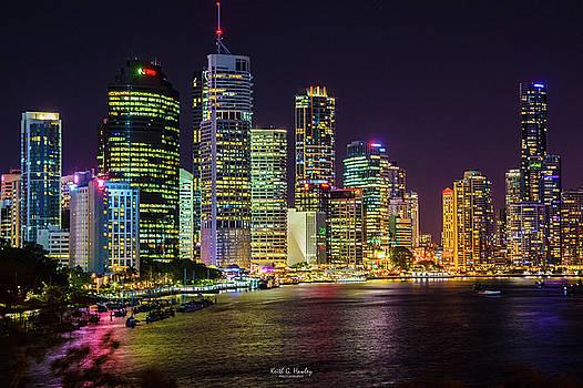 Brisbane at Night by Keith Hawley