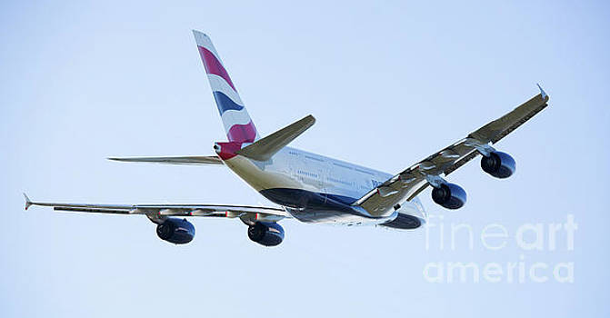 British Airways Airbus A380 Departing London, UK by Colin Cuthbert