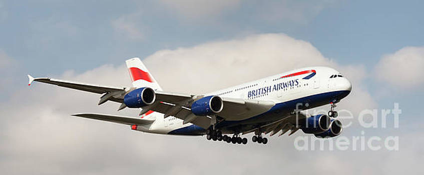 British Airways Airbus A380 Landing in London, UK by Colin Cuthbert