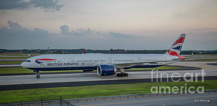 Reid Callaway - British Airways Jet GSTBL Hartsfield Jackson Atlanta International Airport Art