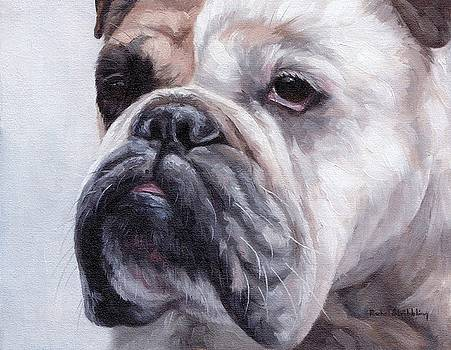 British Bulldog Painting by Rachel Stribbling