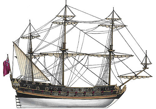 British Frigate 1680 by The Collectioner