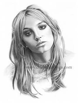 Britney Spears Drawing by Brian Duey