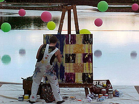 Broadmoore Painting Main Pool by Terry Womble