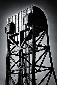 Broadway Bridge South Tower Detail 1 Monochrome by Jeremy Herman